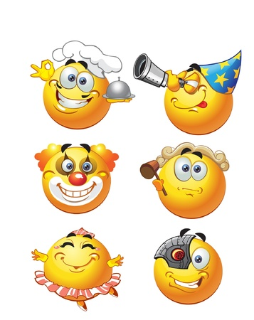 profession round smiles Vector