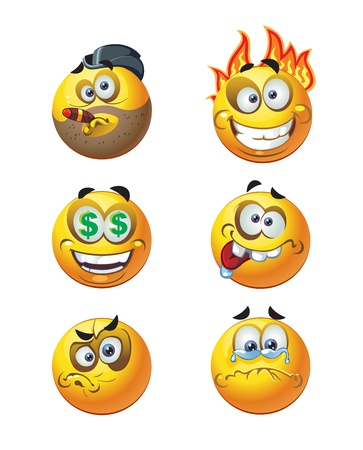 livid: fiar round smiles Illustration