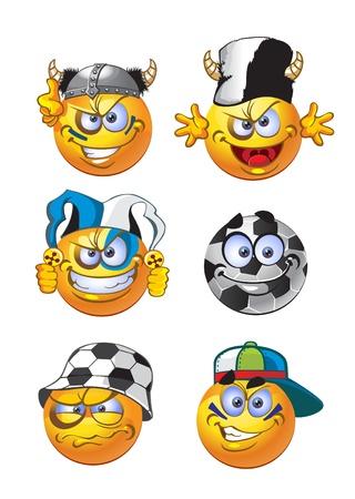 изумление: футбол круглые улыбки