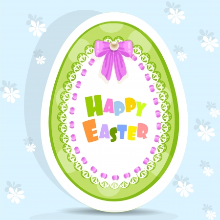 Easter egg-laced postcard Vector