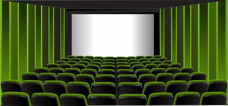 theater audience: Green showing room Illustration