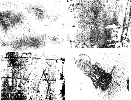 ink splat: grunge scratched metal  texture set 1 Illustration