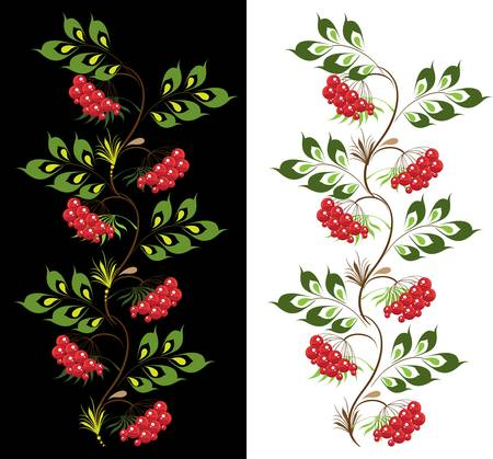 ornament by viburnum Vector