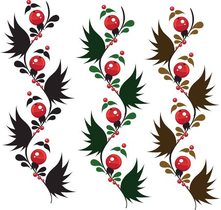 multicolored ornament berrys from granules Stock Vector - 17351646