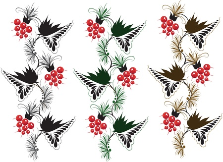 ornament on white background Vector