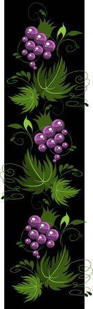 decorative stylized grapes black Stock Vector - 17351645