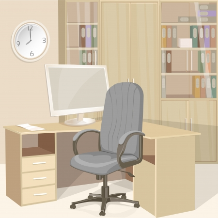Business office bright interior Vector