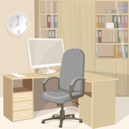 büro: Iş ofis parlak iç Çizim