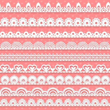 openwork: Large set of openwork lace borders for your design