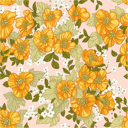 Seamless pattern of yellow wildflowers Stock Vector - 17525271