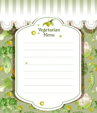 vegetarian menu Stock Vector - 17525276