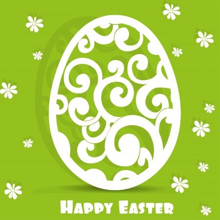 Easter egg openwork appliqu�s postcard Stock Vector - 17525284
