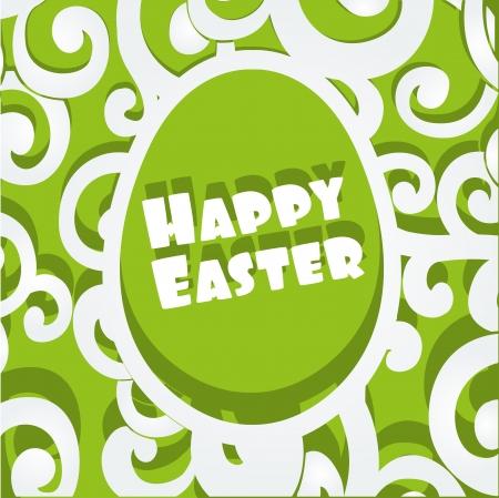 Happy Easter egg openwork appliqu�s banner Stock Vector - 17525283