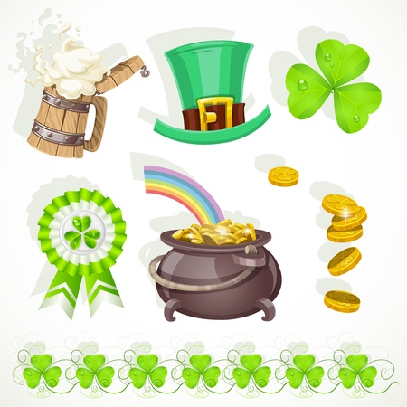 Saint patrick`s day elements set for designc Vector