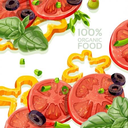eatable: Background 100  organic natural food fresh Illustration