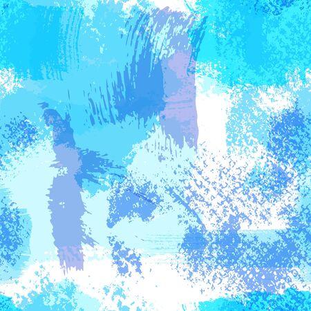 smears: Seamless background from grunge handmade blue paint smears