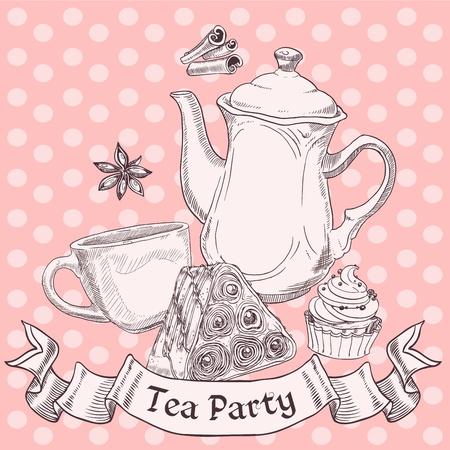 afternoon cafe: Vintage dulces y el té de la bandera - Tea Party