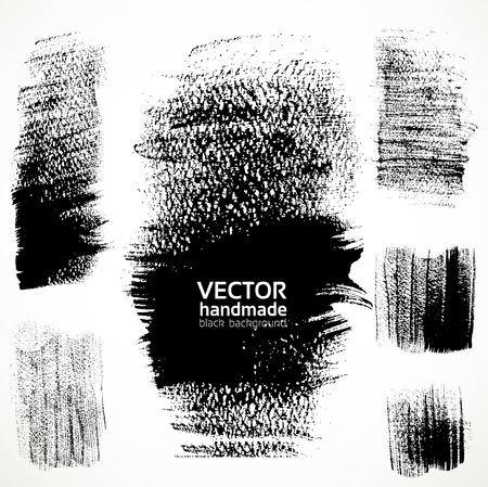 watercolor splash: Figured textured brushstrokes brush and ink