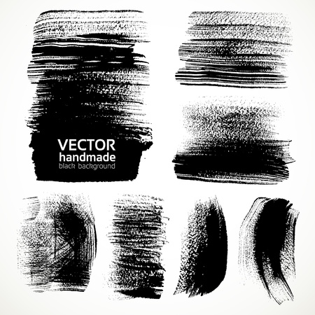 Textured brushstrokes brush and ink Vector