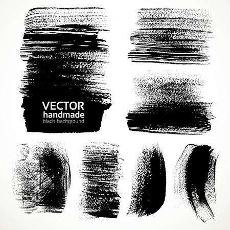 brushstrokes: Textured brushstrokes brush and ink Illustration