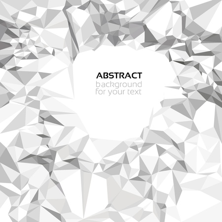 Abstract crumpled paper background for your text Vector