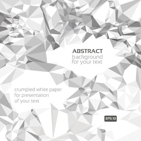 Abstract crumpled paper banner for your presentation Vector
