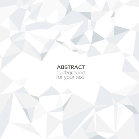 Abstract crumpled white paper backgroun Vector