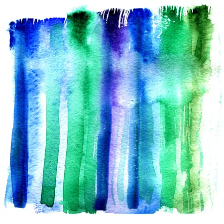 Wet strip of aquarelle paint on water textural paper photo