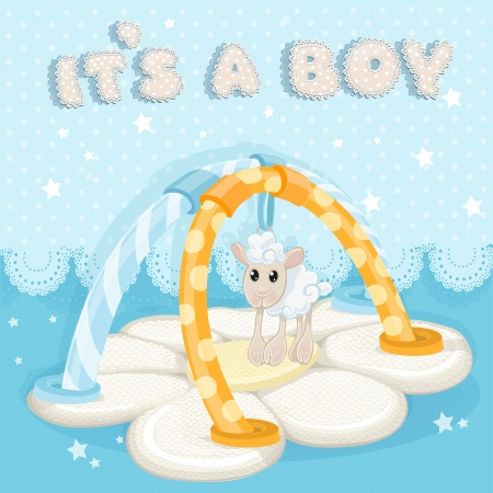 Greeting card with a children s rug is a boy Vector