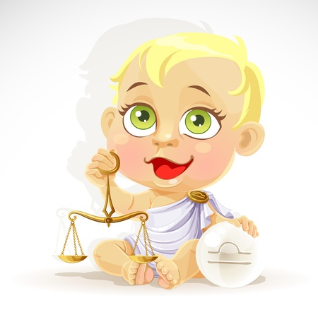 brooch: Baby zodiac - sign Libra
