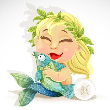 escamas de peces: Zodiac Baby - signo de Piscis