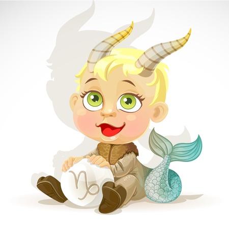capricornio: Zodiac Baby - Capricornio Vectores