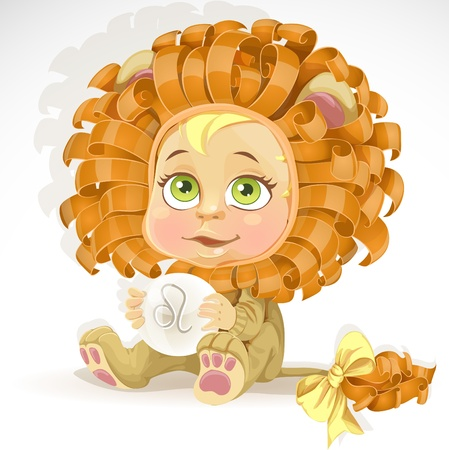zodiac signs: Baby zodiac - sign Leo Illustration
