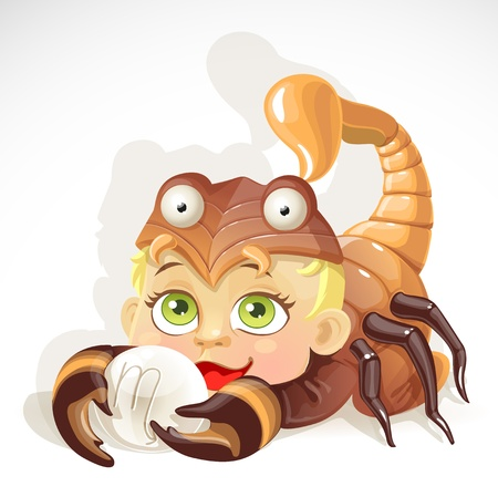baby: Baby zodiac - sign Scorpio Illustration
