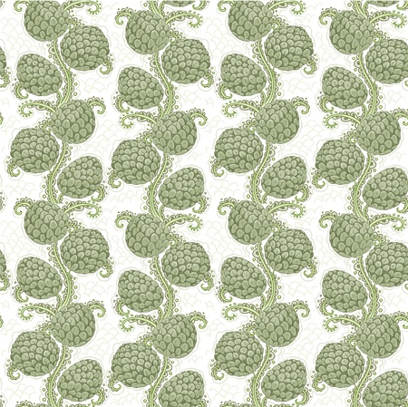 Big seamless decorative pattern of hop cones Vector