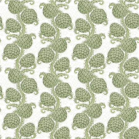Big seamless decorative pattern of hop cones Stock Vector - 20978853
