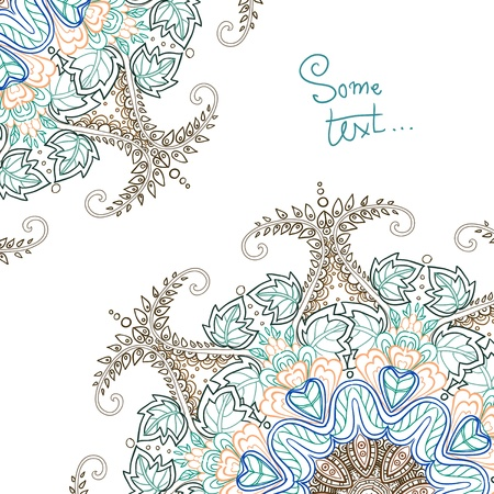 Background for text with floral ornament Vector
