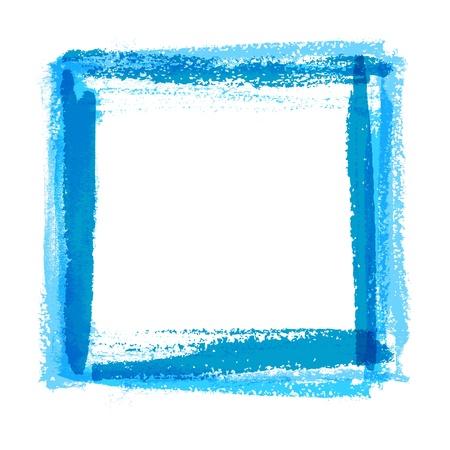 border line: Frame for design of textured brush strokes paint on paper Illustration