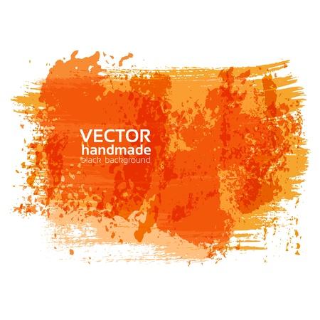 Handdrawing textured brush strokes on white banner Stock Vector - 21261703