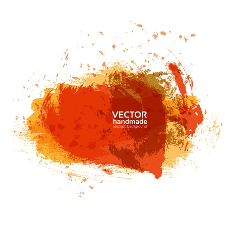 Abstract brush strokes of orange and red paint on white paper banner for your text Stock Vector - 21261706