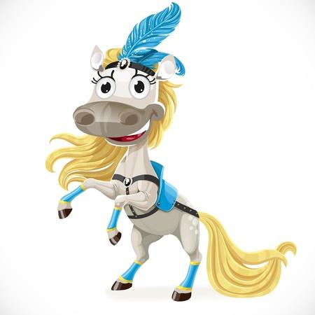 hind: Cute circus horse on hind legs Illustration