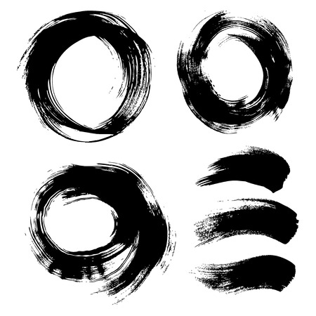cepillo: Ronda de textura de fondo pintado a mano