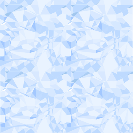 Blue seamless pattern of crumpled paper vector Vector