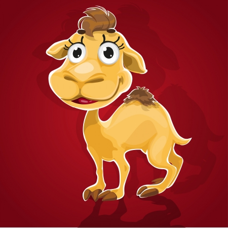 Cute baby camel Vector
