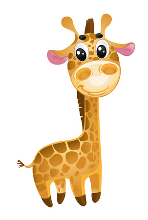 soft toys - baby giraffe. vector