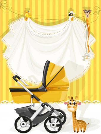 tarjeta amarilla: Baby shower tarjeta amarilla