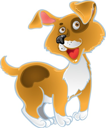 Orange fun dog Vector
