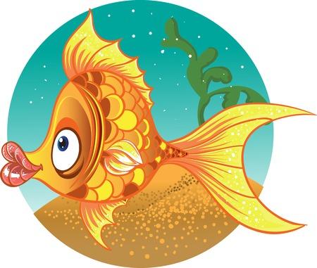 sedate: gold fish  vector