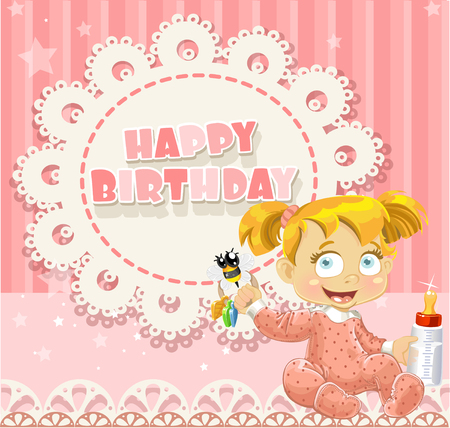 ponytails: Happy Birthday my little princess - baby girl