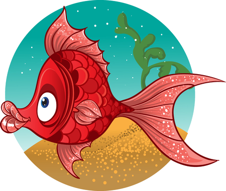red fish. vector Illustration